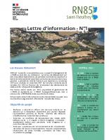 Lettre d'information – N°1