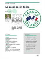 Lettre La relance en Isère no1